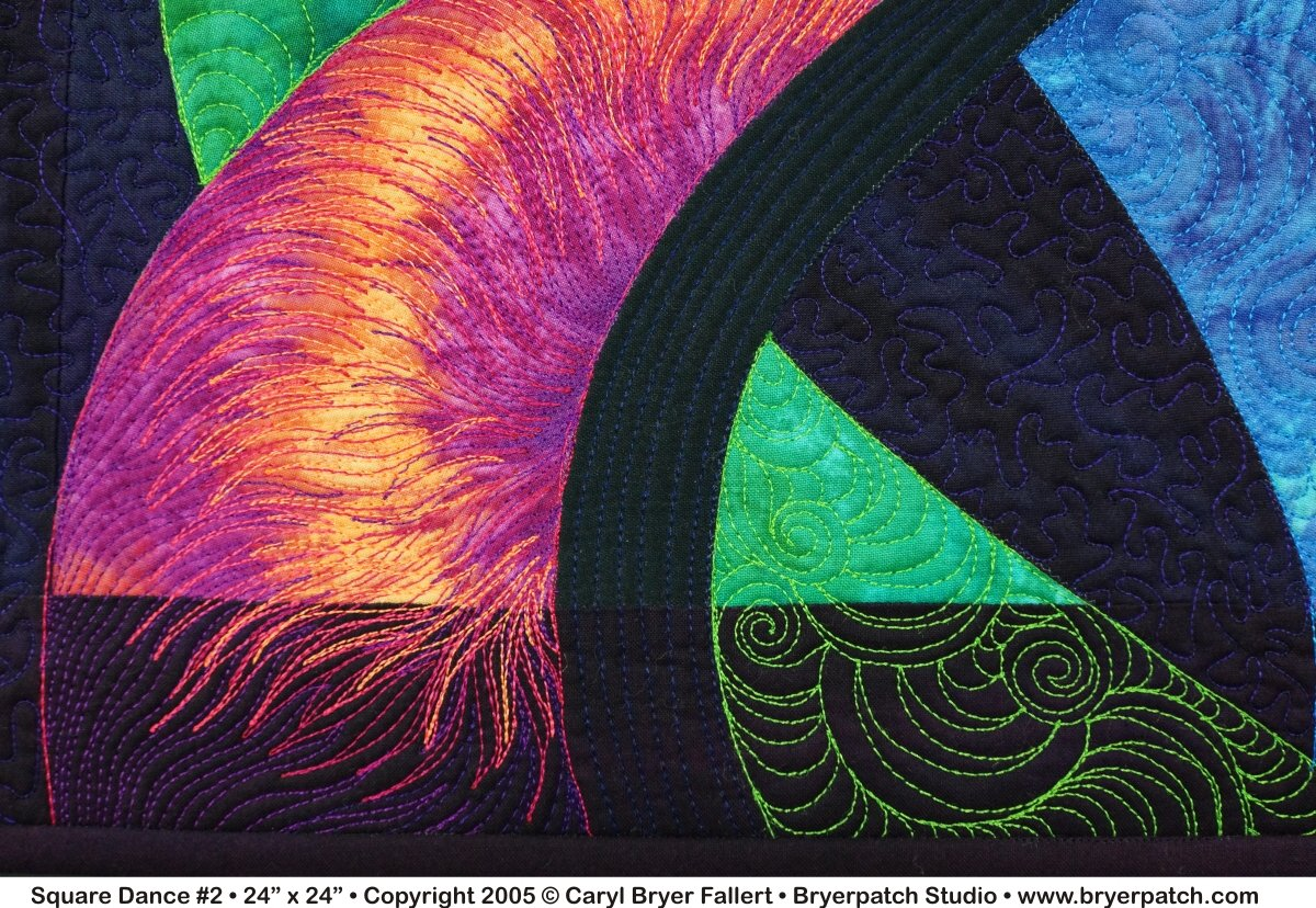 Square Dance 2 Copyright 2005 169 Art Quilt By Caryl Bryer